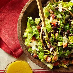 I'm in love with this California Chipotle Chopped Salad from Finess Magazine. Here's my version with a few tweaks.