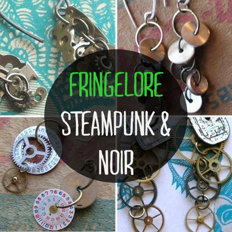 I love unique jewelry. Fringelore on Etsy has the coolest steampunk pieces. Check them out here!