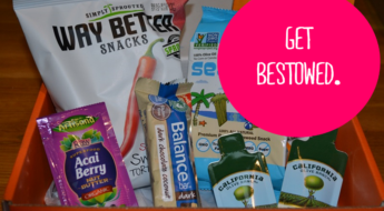 The Bestowed Box is a monthly assortment of the best healthy food, snacks, beverages and lifestyle products on the market. Here's my review of one of their monthly subscription boxes. You can find links and additional details in my subscription box directory.