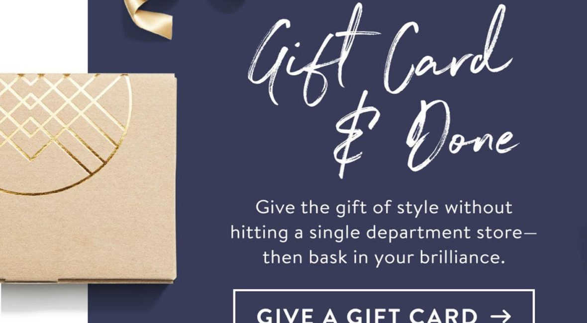 Grab a stitch fix gift card for the holidays!