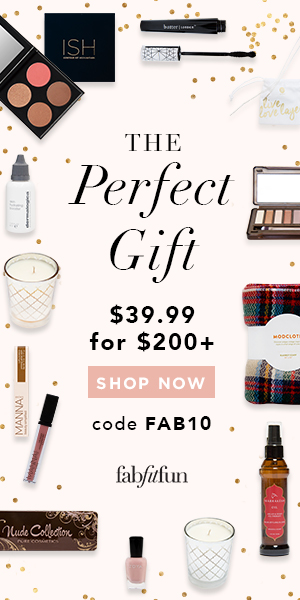 FabFitFun is a limited edition, seasonal gift box curated by Giuliana Rancic. My first box just shipped and I have a $10 promo code for YOU!
