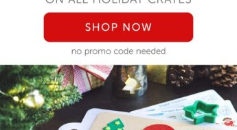 Holiday crates are on sale at Kiwi Crate!