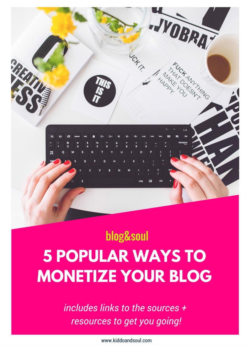This post discusses 5 ways to monetize your blog.