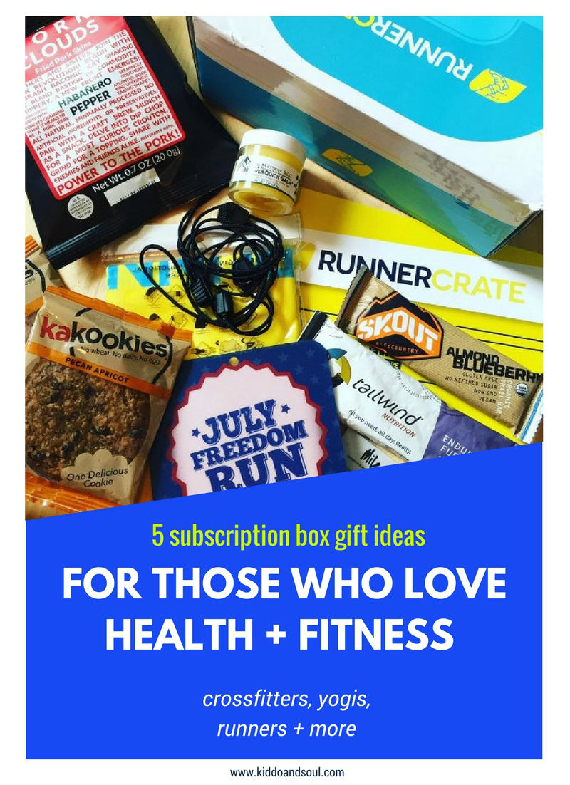 Here's 5 subscription box gift ideas for people who like to stay fit!