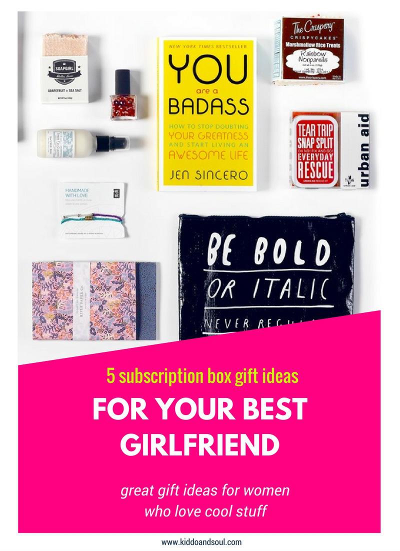 Day 5 SUBSCRIPTION BOX GIFT IDEAS FOR WOMEN Kiddoampsoul