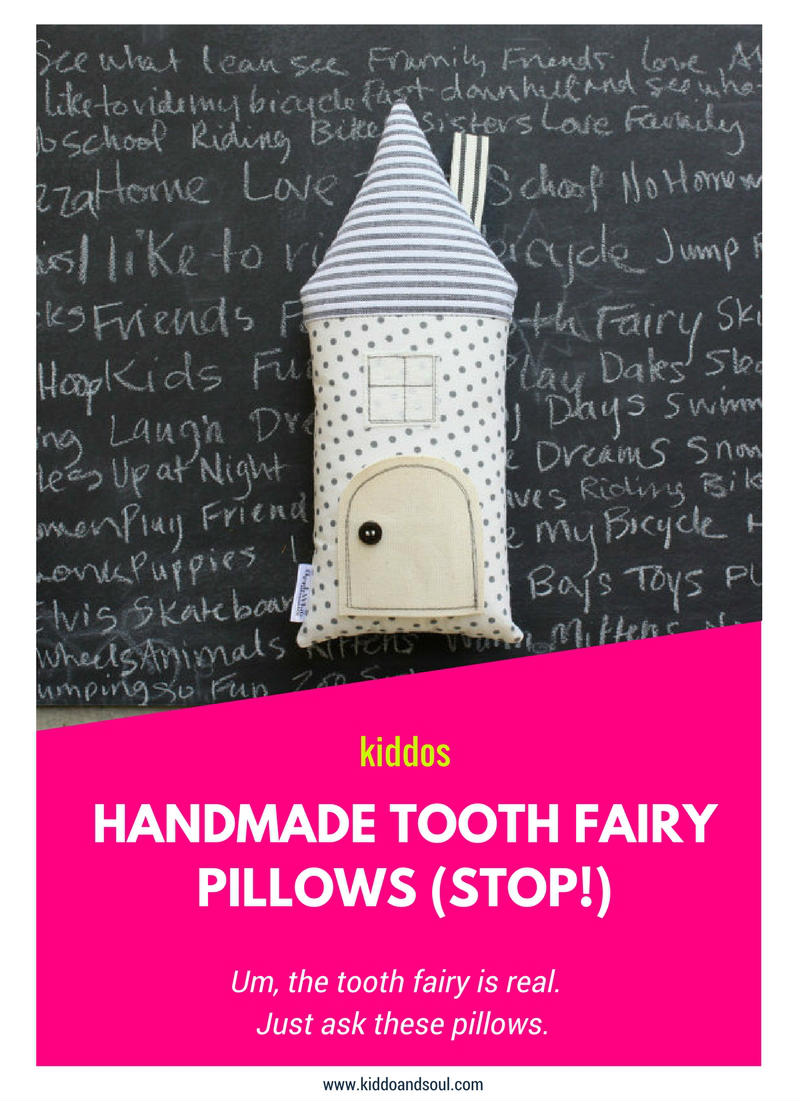 Check out these adorable tooth fairy pillows from Apple White on Etsy!