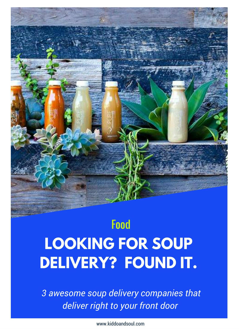 If you're sick and looking for soup delivery (nationwide), check out these sites!