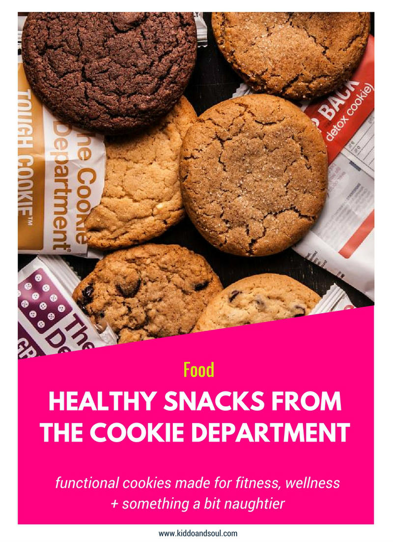 Check out these healthy snacks from The Cookie Department!