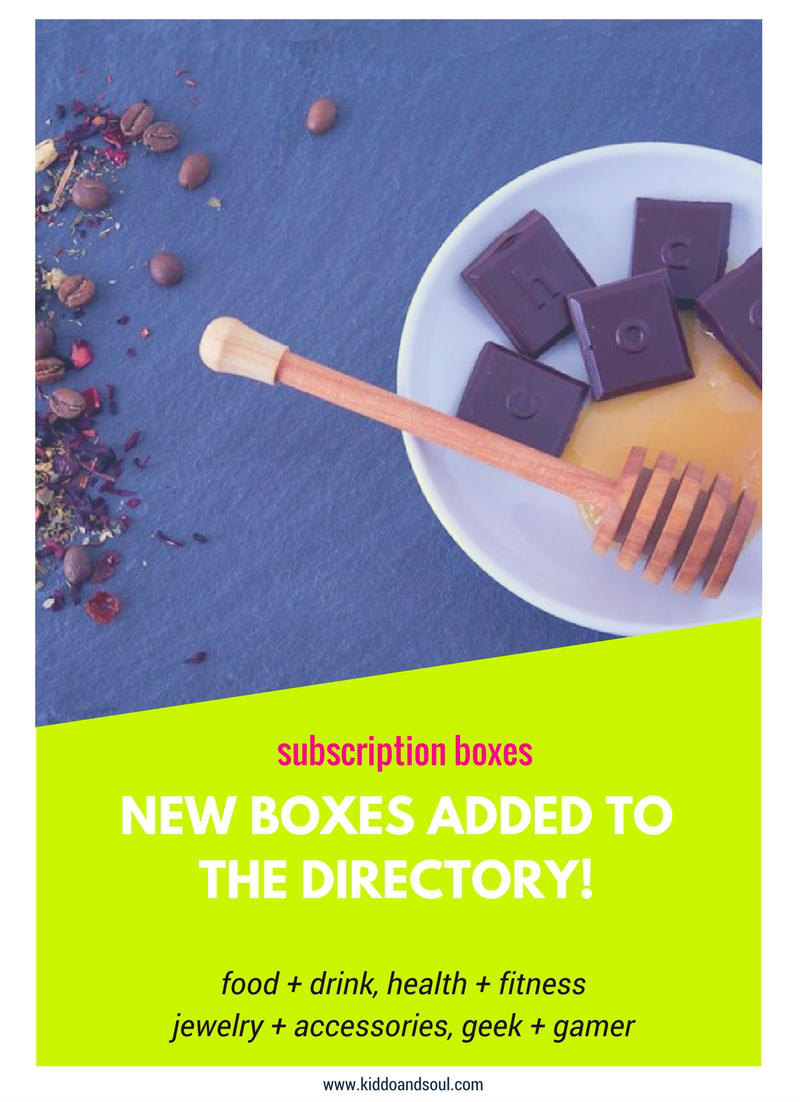 I've added 11 new monthly subscription boxes to the directory. Check em' out!