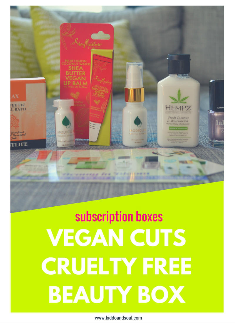 I'm reviewing cruelty free & vegan beauty from Vegan Cuts!