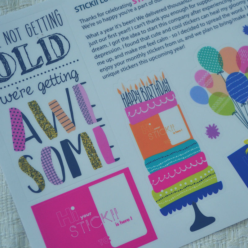 I'm reviewing Stickii Club on the blog today!