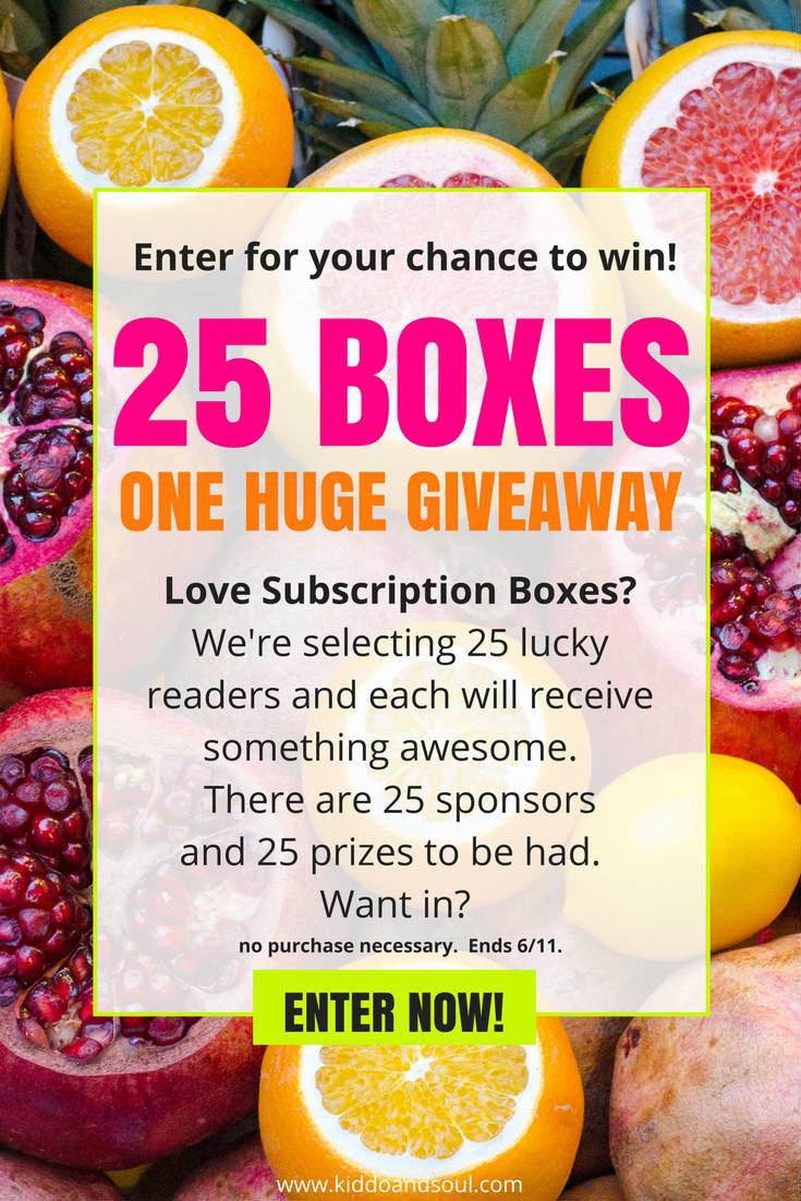 Enter for your chance to win one of 25 subscription boxes! No purchase necesesary! Ends 6/11.