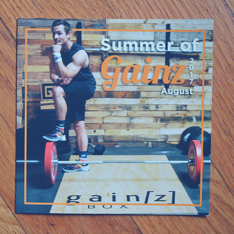 Gainz Box reminds me to stick to my Fitness Goals. Here's what I got in the box this month!