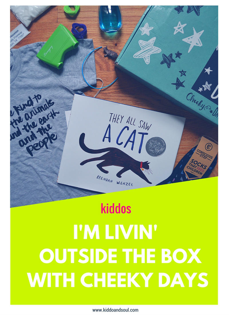 I've got Outside the Box by Cheeky Days on the blog and we're playing, exploring and giving back!