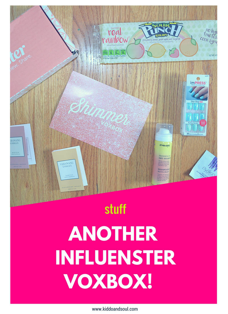 I've got Influesnter on the blog for round 2 with my second Voxbox!