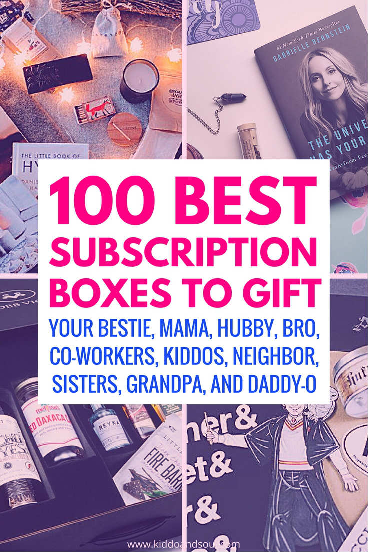 I'm sharing the 100 Best Subscription Boxes to gift this holiday season. Ready ?