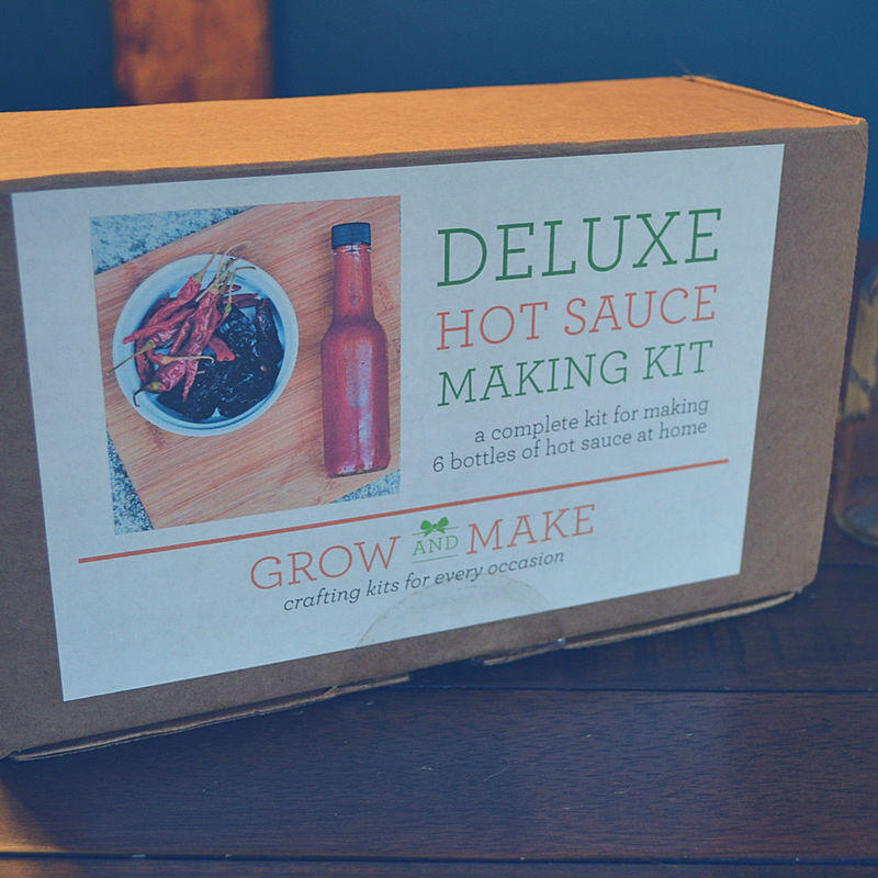 Grow & Make sent us a DIY Hot Sauce Making Kit! Here's the deets.