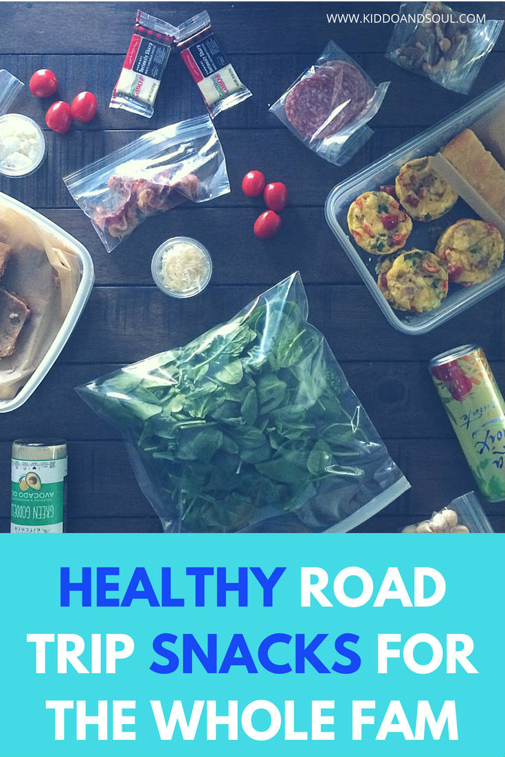 If you're looking for healthy road trip snacks for your whole family, this is a great list of stuff to get you started!  Keto friendly, sugar-free & easy!  These snacks are great for adults and for kids and are perfect for travel.
