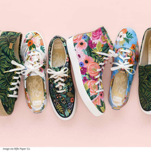 RIFLE PAPER CO KEDS HAVE MET ITS A LOVE FEST. See what's in the 2018 spring collection!