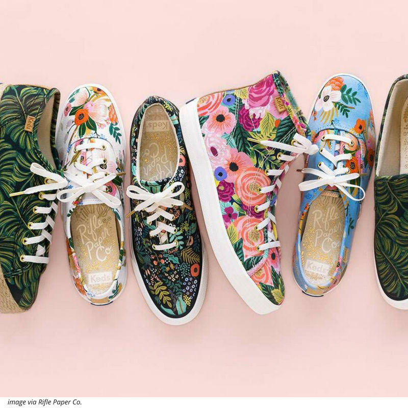 RIFLE PAPER CO + KEDS HAVE MET.  IT'S A LOVE FEST.