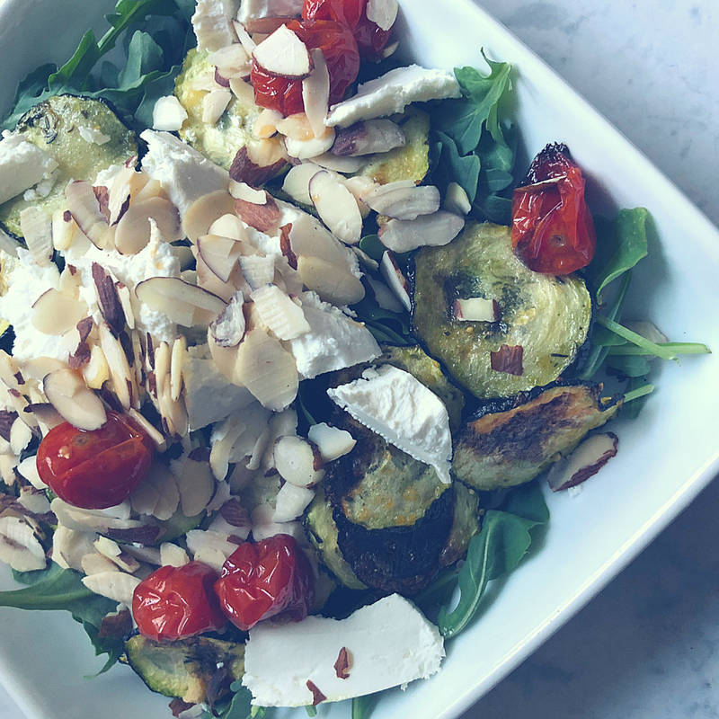 HEALTHY ROASTED VEGGIE & GOAT CHEESE SALAD