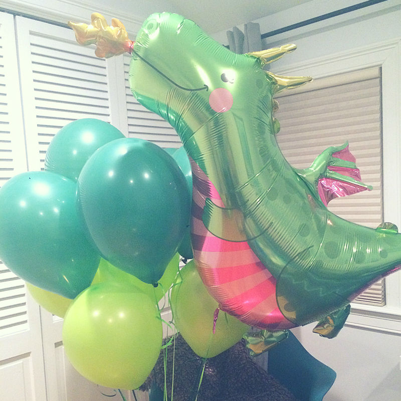 MY DAUGHTERS DRAGON A UNIQUE KIDS BIRTHDAY THEME3