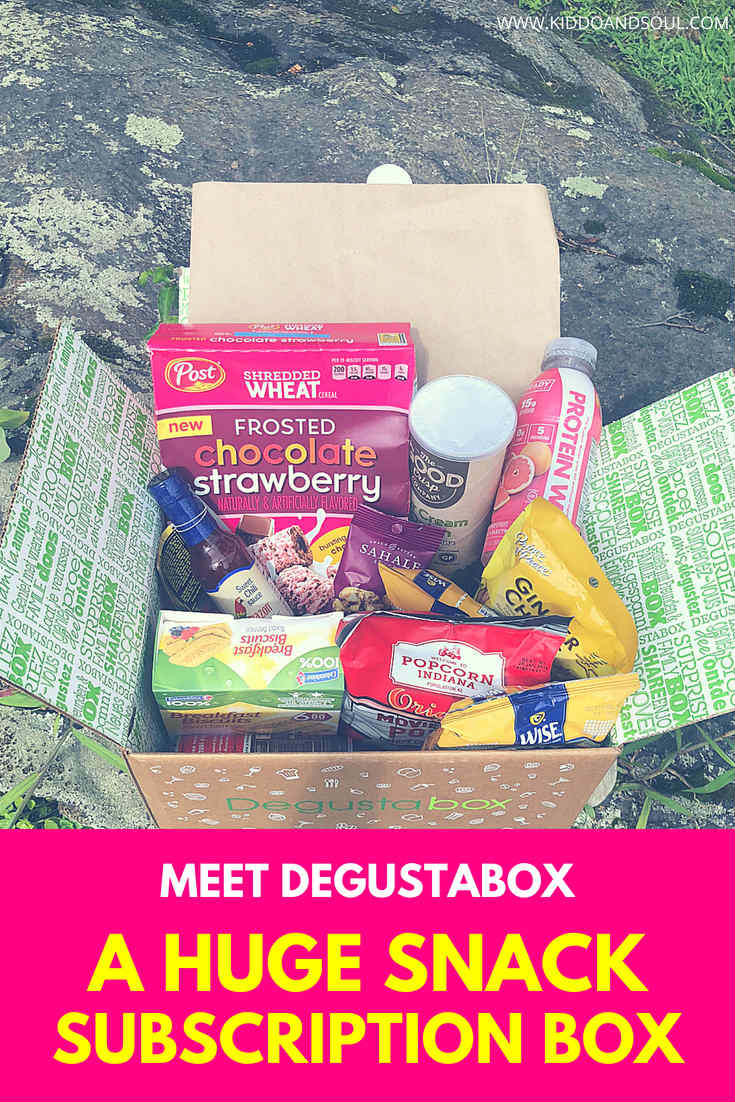 We received our first Degustabox and it was packed with stuff to try!  If you're looking for a new snack subscription box to try, it's a great place to start!  They've got a little bit of everything from healthy food, to quick easy snacks for on the go.  If you're in to snacking Degustabox is a great choice! for only $19.99 per month.  #sponsored #subscription #subscriptionbox #monthlybox #box #snack #snacks #healthysnacks #onthego #kidssnacks #healthy #food #quick #easy #foodsubscription