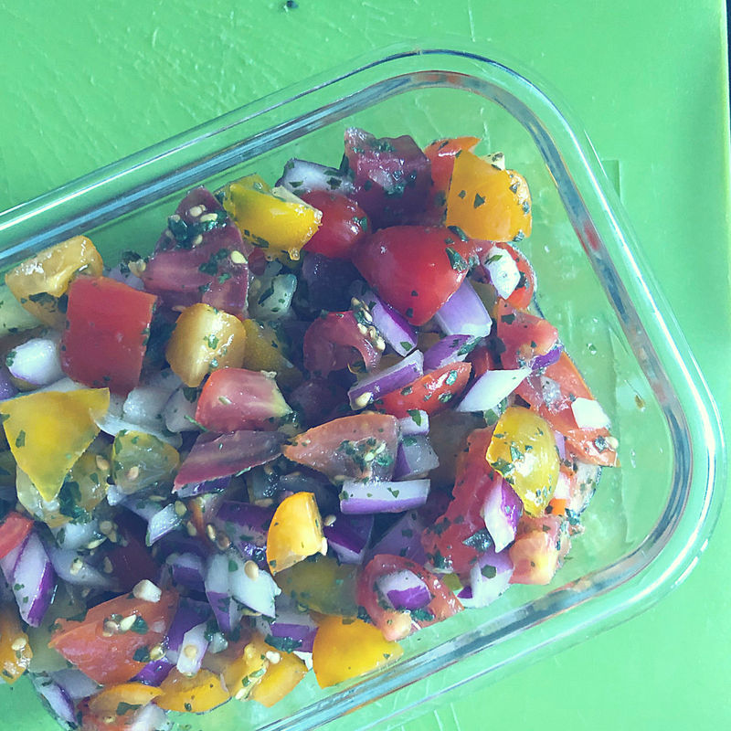 Fresh Heirloom Tomato Salsa (Keto Approved!)