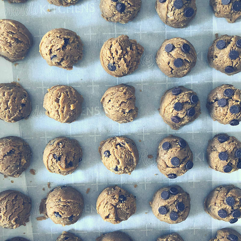 Nut Free Sun Butter Chocolate Chip Cookie Balls Sugar Free School Safe 10