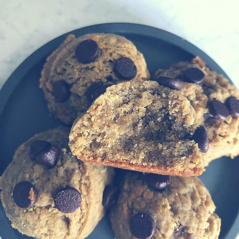 Nut Free Sun Butter Chocolate Chip Cookie Balls Sugar Free School Safe
