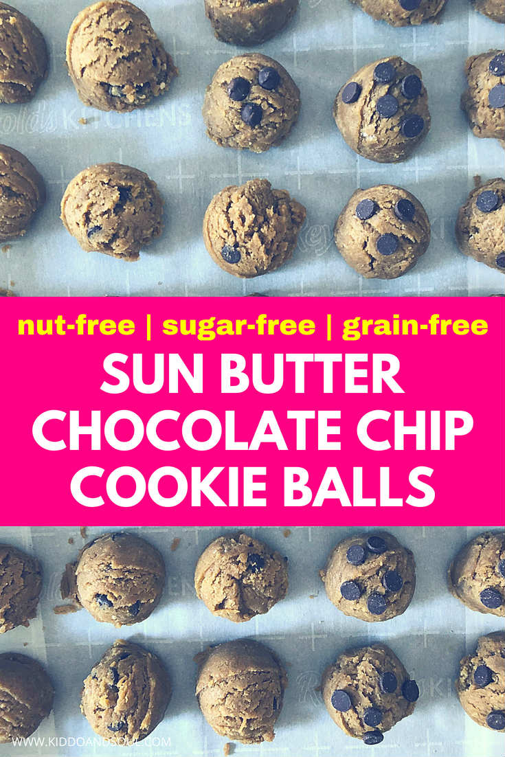 We've been eating these nut free cookie balls for a couple of weeks now. They are so addicting and, filled with healthy fats, protein and other sun-buttery goodness for the win.  If you're eating a keto diet, paleo or sugar free these are for you.  And, they are perfect for the classroom when making lunches for kids.
