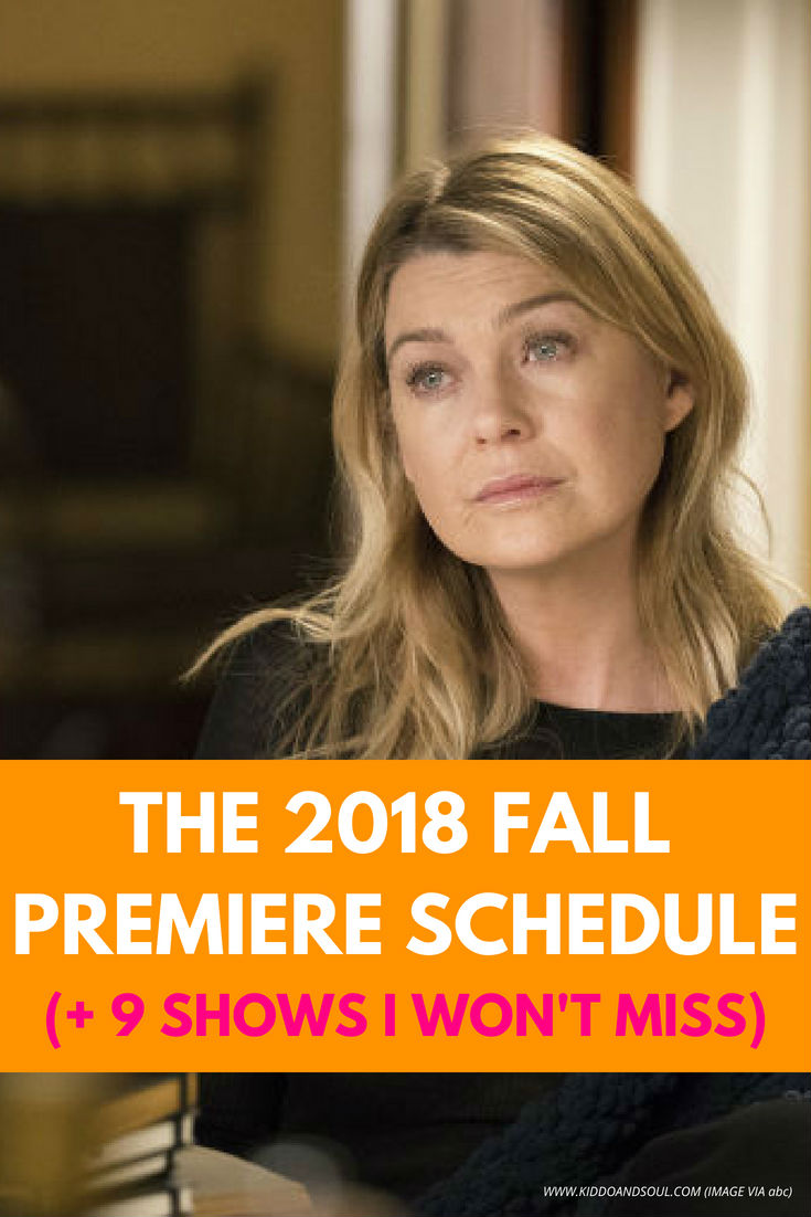 The 2018 Fall Premiere schedule is out and I can't wait!  I've got so many tv series on the roster (OMG, This is us) and am stoked to watch the new ones coming out.  From ABC to Netflix, here's what's top on my list, plus links up to the full fall skedge.  