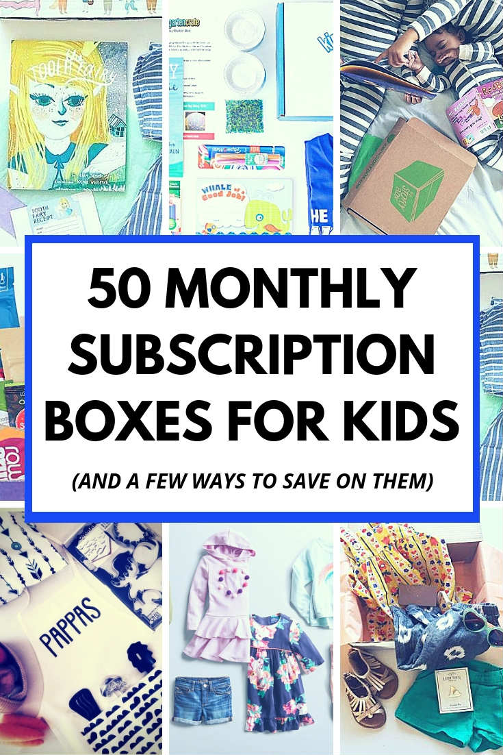 So many subscription boxes for kids in this post.  From kids styling services and meal delivery to craft, activity and book subscriptions.  I wanted to create a huge round up of monthly boxes for children to make gift giving super easy.  #subscriptionboxesforkids #subscriptionbox #subscriptionboxes #kidsboxes @monthlybox #children #activities #crafts #kidsclothes #kidsfashion #healthysnacks #snacksforkidss #homeschooling #kidsbooks #childrensbooks #kidssstyle #kids #giftidea #giftforkids