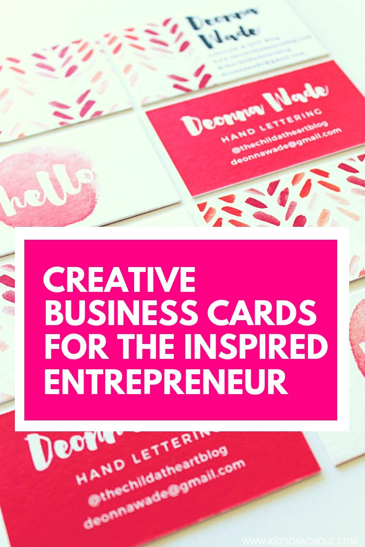 Creative business cards for the inspired entrepreneur