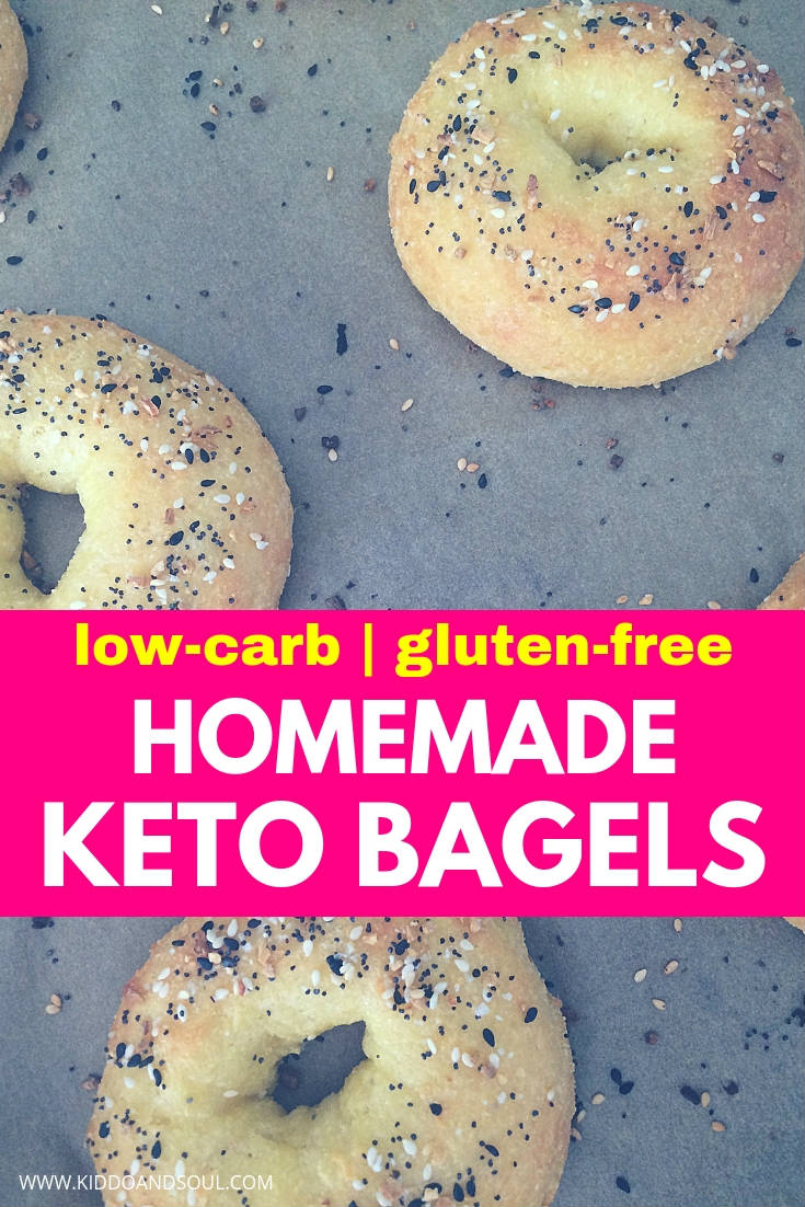 These homemade keto bagels are super easy to make, using a Fathead Dough style recipe.  If you are looking for keto lunch ideas, these are a great option (turn them into pizza bagels or make a bagel sandwich)!