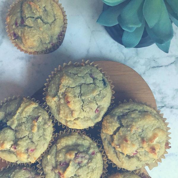 Easy Grain Free Sugar Free Berry Pancake Muffins keto friendly
