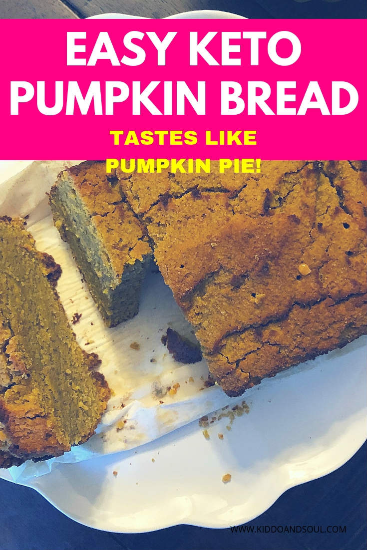 If you're looking for a replica version of your favorite pumpkin pie, this keto pumpkin bread tastes exactly like the real thing.  Only 4g net carbs & delish!  #ketopumpkin #keto #pumpkinpie #recipe #dessert #ketodessert #ketopumpkinbread #easy #easyrecipe #ketogenic #ketogenicdiet #mealprep #ketomealprep #fatbombs