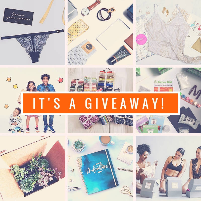 NOVEMBER GIVEAWAY Enter for your chance to win 1 of 9 amazing prizes