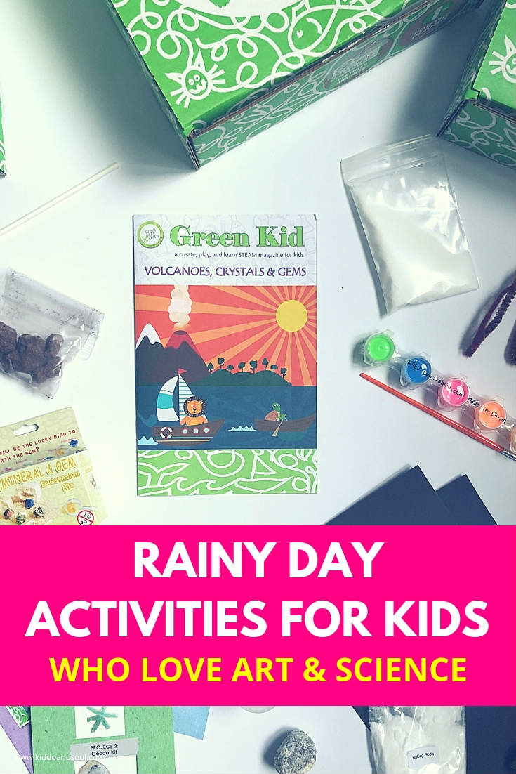 Is it ever going to stop raining? This Fall has been one of the wettest I remember in a long time. Rainy Day activities save us.  Green Kid Crafts to the rescue.