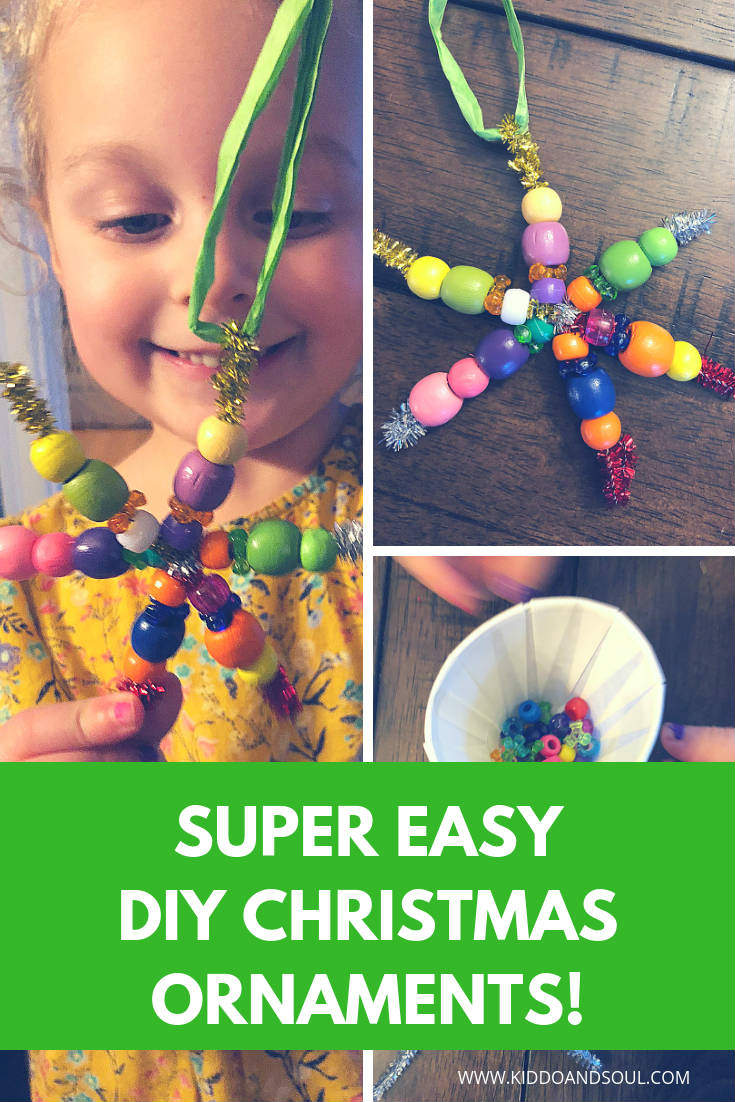 We just made the most simple and adorable DIY Christmas ornaments!  And, we didn't have to do anything but open a box and use our imaginations.  More on that (and our new bestie Green Kid Crafts) on the blog!