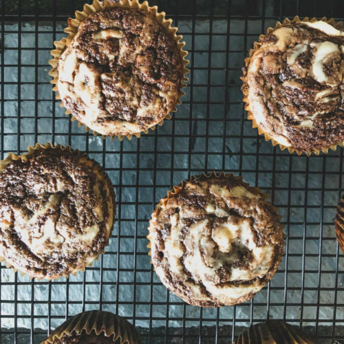 Deliciously Sweet Low-carb Cream Cheese and Chocolate Muffins