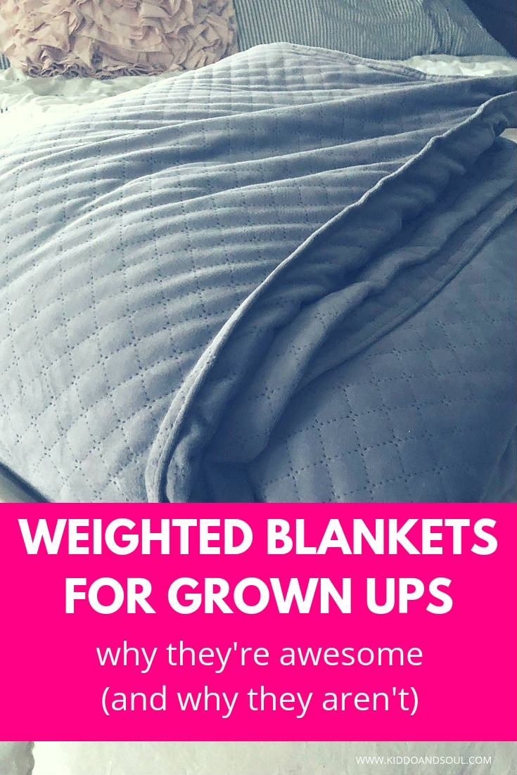 If you're wondering what its like to be a grown up who uses a weighted blanket, read this post. I'm sharing the upsides and downsides of using a weighted blanket, plus links to price shop for your own.