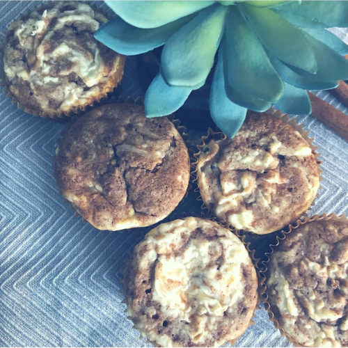 Low Carb Cinnamon Roll Muffins (Sugar-free Grain-free & Keto friendly)