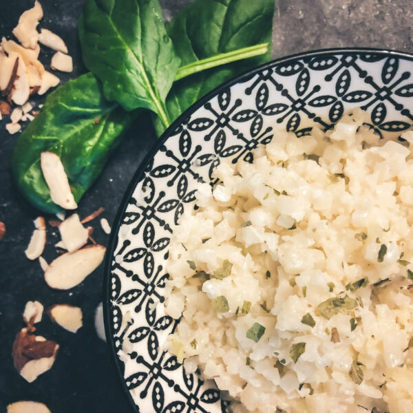 10-minute coconut cauliflower rice sugar-free dairy-free gluten-free