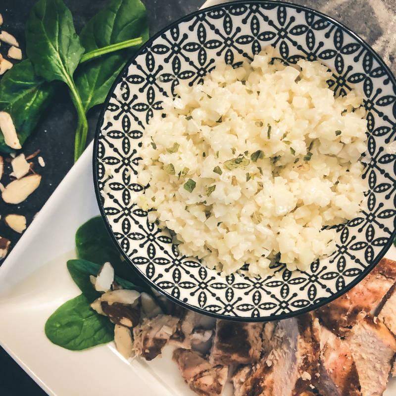 10-minute coconut cauliflower rice sugar-free dairy-free gluten-free
