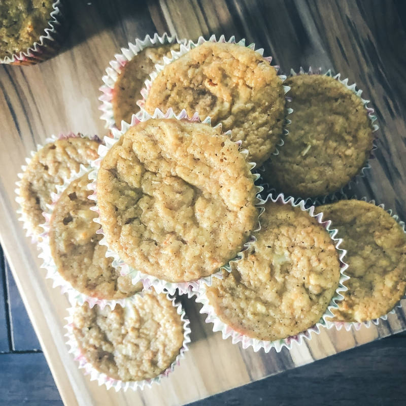 Delicious Sugar-Free Grain-Free Carrot Cake Muffins