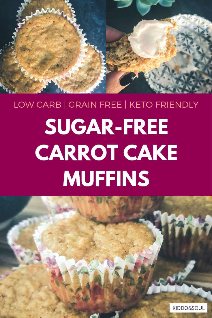These sugar-free, grain-free carrot cake muffins are here just in time for Spring!  I don't know about you, but Spring and all of the Easter decor that comes with it has me craving carrot cake big time.  Since the regular version no longer works for my diet, I thought it was time to get crafty with these little treats!