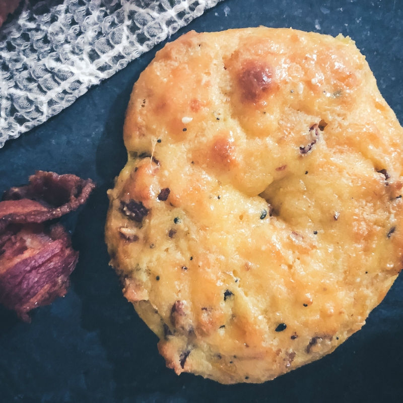 Grain-free bacon cheddar s andwich biscuits very filling totally delish