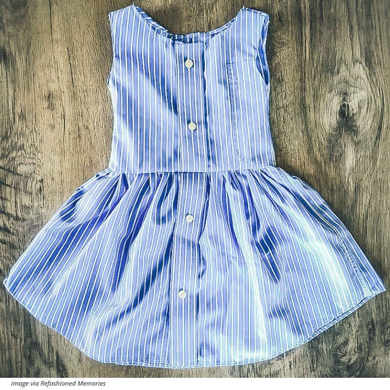 This Mama makes adorable kids clothing out of your old shirts