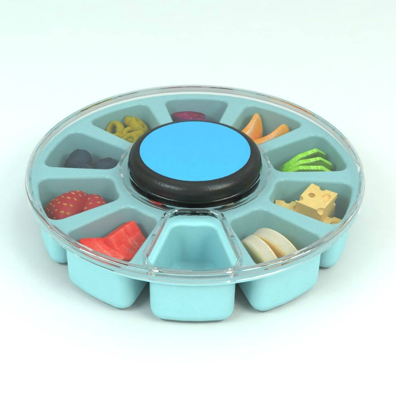 This on the go snack spinner for your kiddos is GENIUS